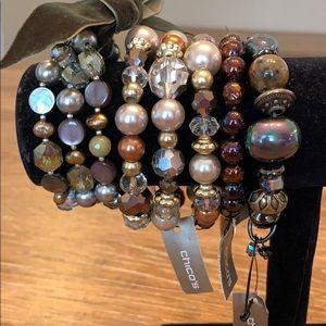 Lot of metallic stretch style bracelets